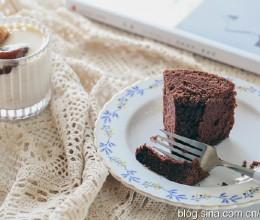 【早餐°】2019-8-16:可可海绵蛋糕/冰奶茶