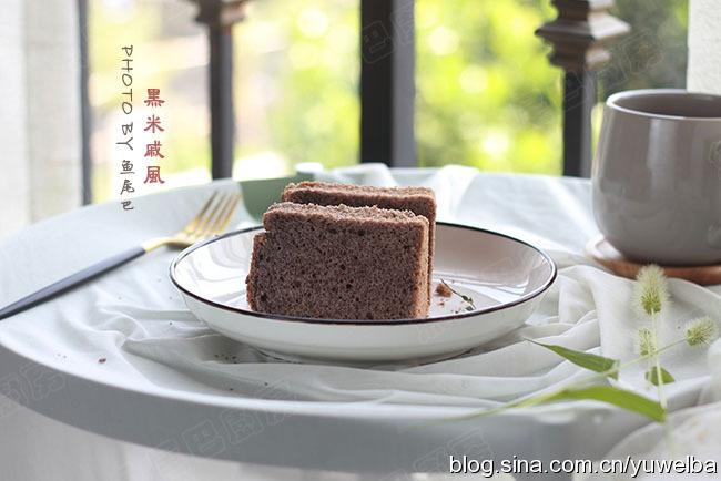 黑米戚風,營養健康,多吃頭發會變黑的蛋糕