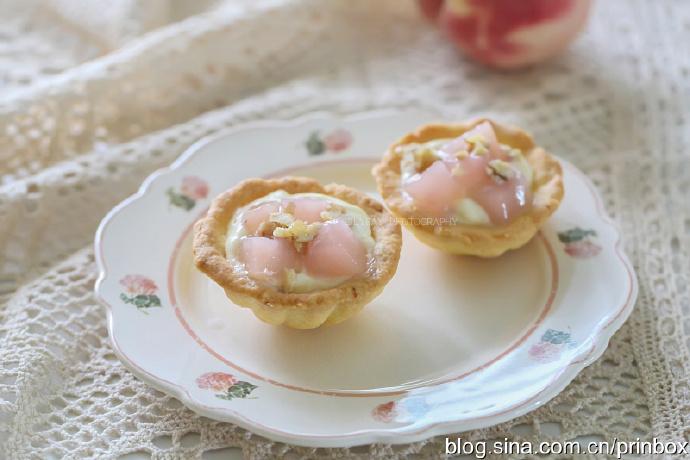 【早餐°】2019-8-29:奶油卡士达蜜桃塔/哈密瓜/咸柠檬蜜桃水