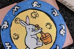 手绘兔子淡奶油蛋糕【用糯米纸更简单】