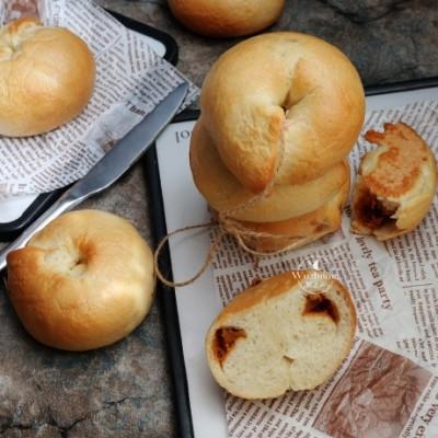 【法式鱼松贝果】省时省力的面包,关键还好吃,一定要学