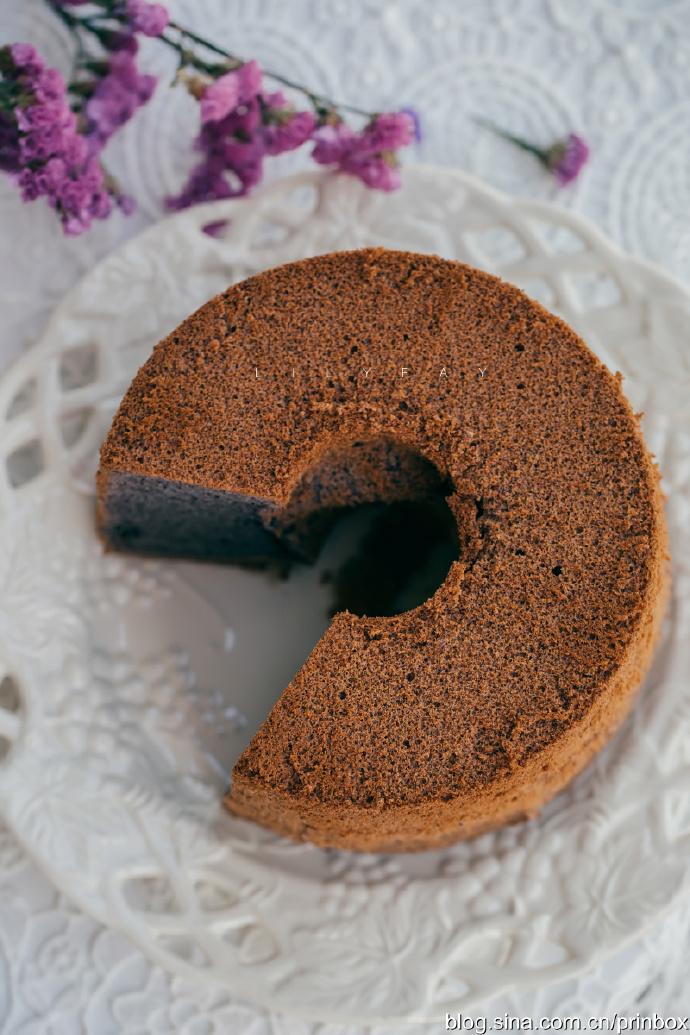 【早餐°】2019-11-19:紫米戚风蛋糕/卡布奇诺