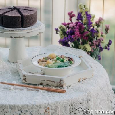 【早餐°】2019-11-20:萝卜牛腩面/黑米蒸蛋糕
