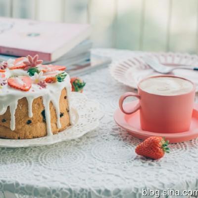【早餐°】2019-11-25:奶油草莓豹紋戚風蛋糕/卡布奇諾