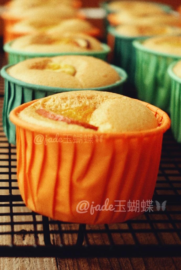 不塌陷不回缩【焦糖香橙杯子蛋糕】