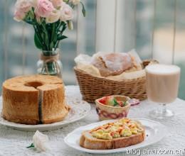 【早餐°】2019-12-16:欧包三明治/伯爵奶茶戚风/阿萨姆奶茶/草莓