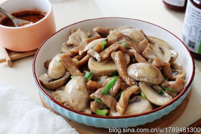 【蘑菇炒肉】孩子胃口差,此菜助消化增食欲,记得常吃