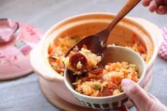 土锅菜系列,西班牙辣肠饭,好吃到流眼泪