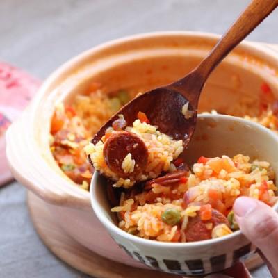 土鍋菜系列,西班牙辣腸飯,好吃到流眼淚