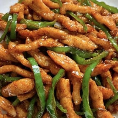 青椒炒雞胸肉絲食譜
