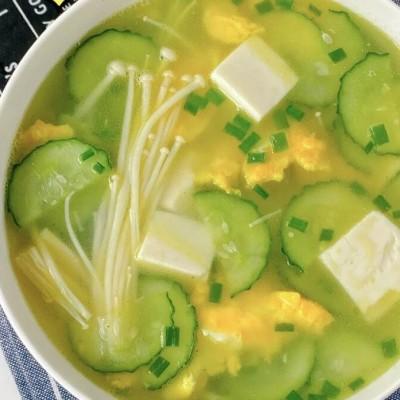 小黃瓜豆腐蛋花湯