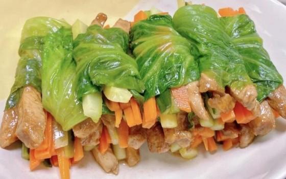 生菜雞胸肉卷(生菜雞胸肉卷)