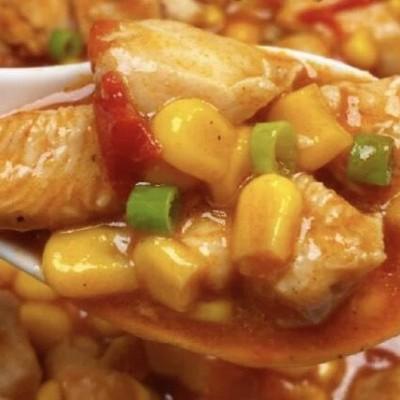 茄汁玉米雞肉蓋飯