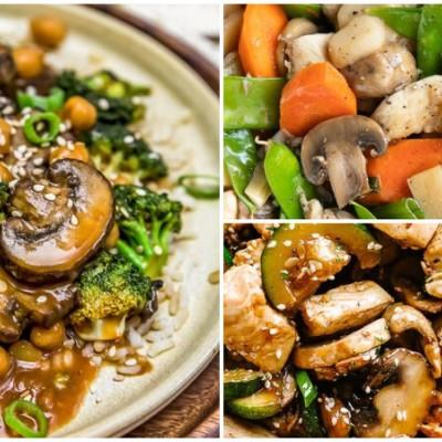 香辣蠔油炒磨菇