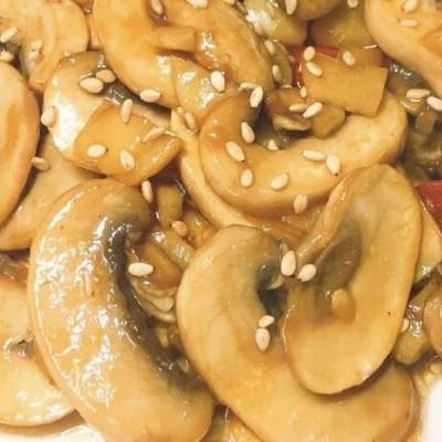 香辣蠔油炒磨菇食譜