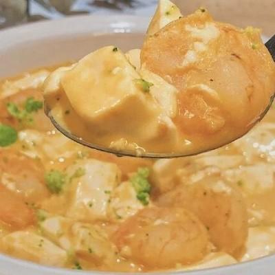 咸蛋蝦仁豆腐煲食譜