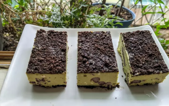抹茶红豆乳酪蛋糕