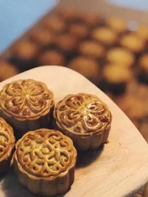 中秋-广式月饼豆沙馅