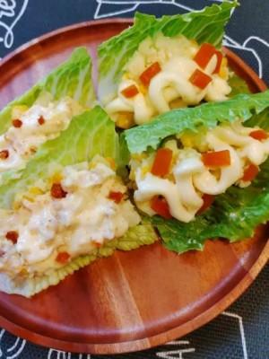 烏魚子蘿蔓馬鈴薯沙拉