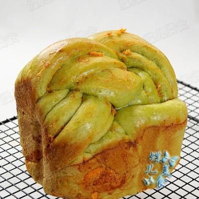 大麦若叶青汁肉松吐司面包--排毒清肠