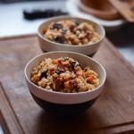 腊肠菌菇焖饭