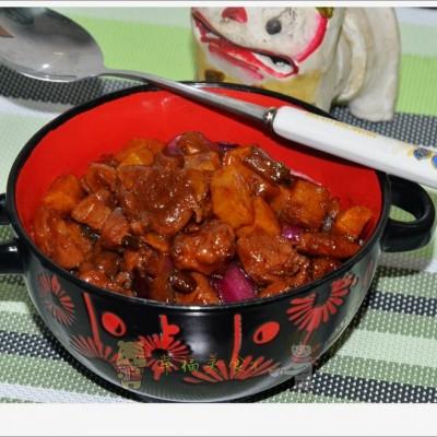 葱香腱子肉酱焖土豆--拌面条卤子