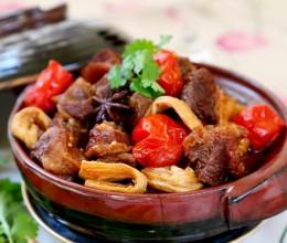 西红柿腐竹炖牛腩