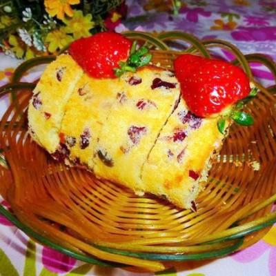 蔓越莓戚风蛋糕卷