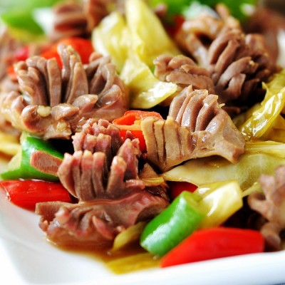 泡菜鸡胗花--春天吃健脾开胃助消化