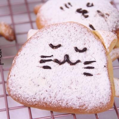 超萌猫咪全麦蜂蜜面包