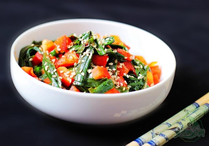 微波炉烤韭菜--春季养肝护肝