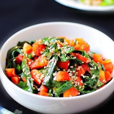 微波爐烤韭菜--春季養肝護肝
