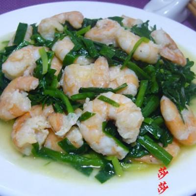 虾仁炒韭菜