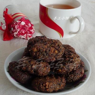 柚子茶栗子面黑饼干