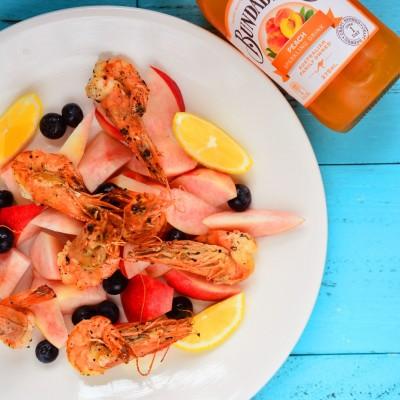 桃子虾沙拉