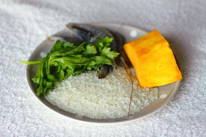 鲜虾南瓜芹菜粥-补钙又减脂