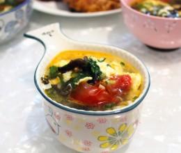 芹香木耳番茄蛋汤