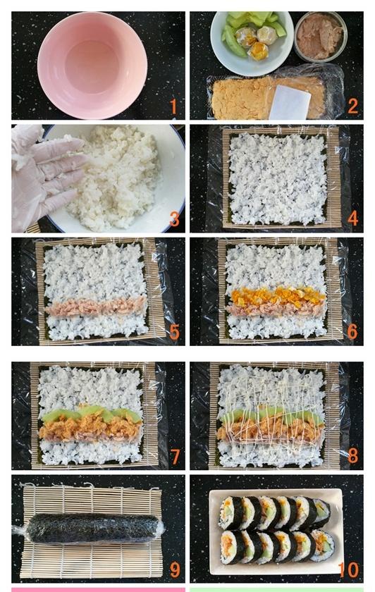 金枪鱼咸蛋黄肉松紫菜包饭