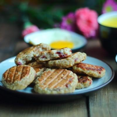 快手营养早餐-香蕉燕麦饼
