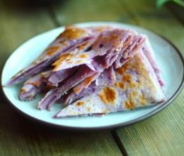 椒盐芝麻紫薯饼