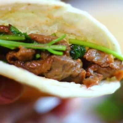 电饼铛食谱-烧饼夹烤肉