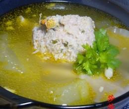 蟹黄占肉冬瓜煲