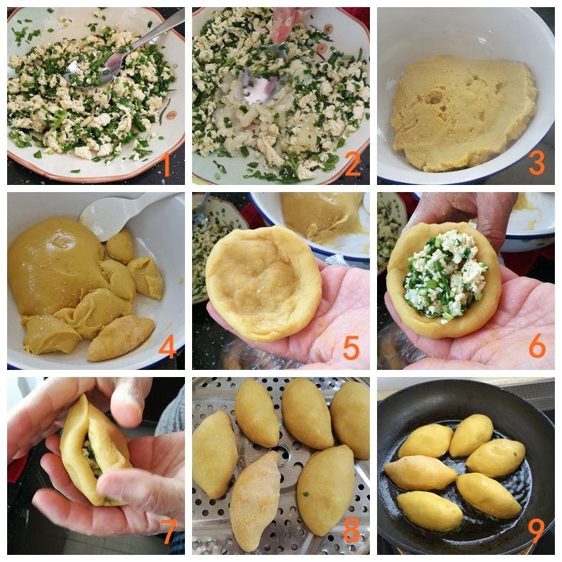 山西特色小吃-煎咸黄米饺