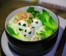 鸡汤青菜面