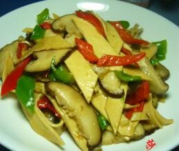 香菇炒百叶
