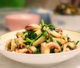 韭菜炒墨鱼