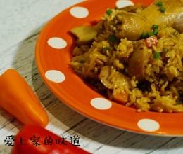 杏鲍菇鸡腿焖饭