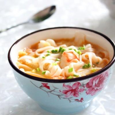 白菜红虾面