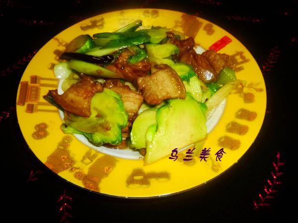 五花肉炒儿菜