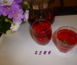 玫瑰洛神花茶